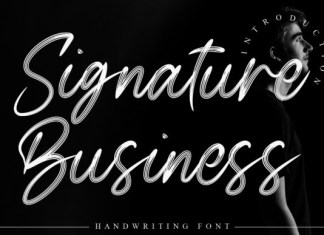 Signature Business Font