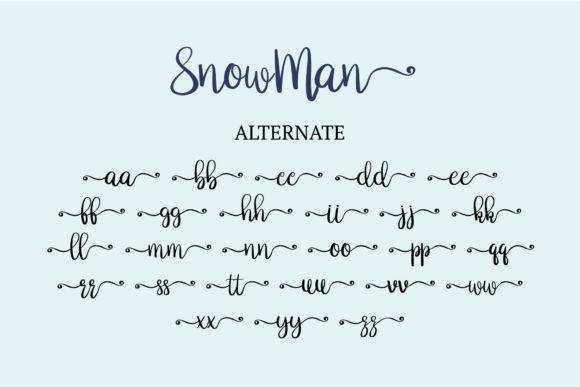 Snowman Font