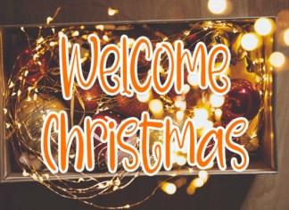 Welcome Christmas Font