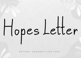 Hopes Letter Font