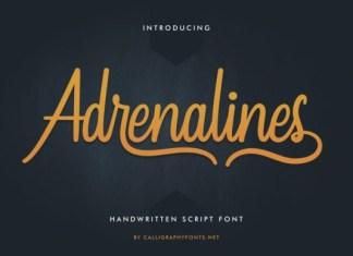 Adrenalines Font
