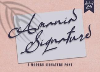 Amania Signature Font