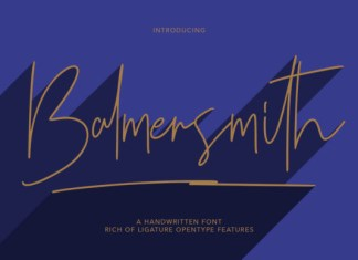 Balmersmith Font
