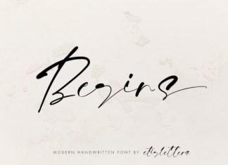 Begins Font