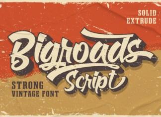 Bigroads Script Font