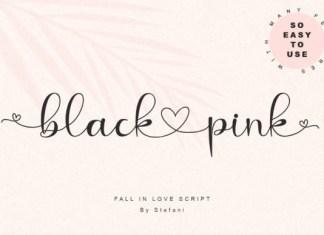 black love pink Font
