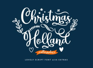 Christmas Holland Font
