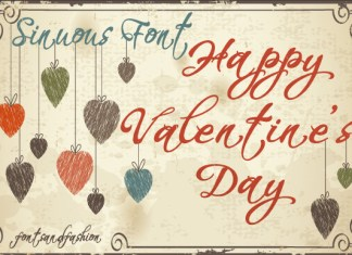 Happy Valentine's Day Font