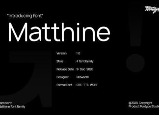 Matthine Font