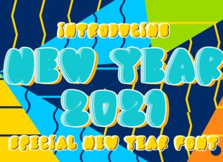 New Year 2021 Font