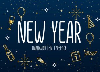 New Year Font