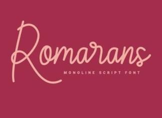 Romarans Font