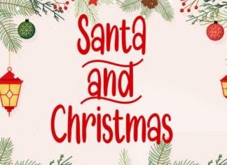 Santa and Christmas Font