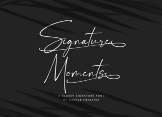 Signature Moments Font