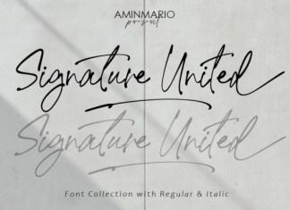 Signature United Font