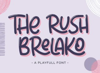 The Rush Brelako Font