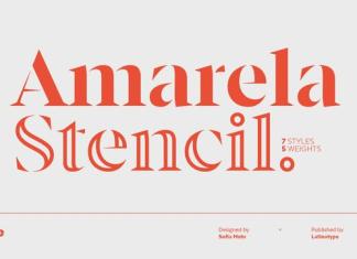 Amarela Stencil Font