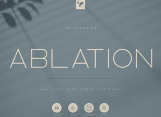 Ablation Font
