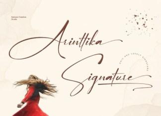Arinttika Signature Font