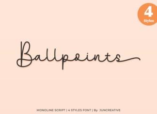 Ballpoints Font