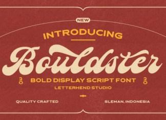 Bouldster Font