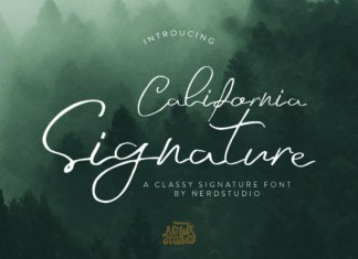 California Signature Font