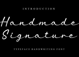 Handmade Signature Font