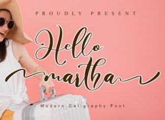 Hello Martha Font