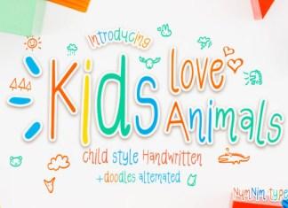 Kids Love Animals Font