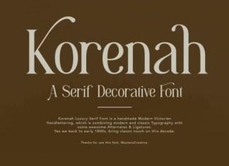 Korenah Font