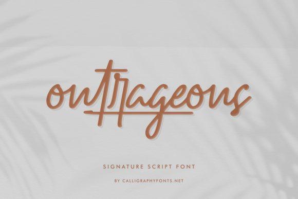 Outrageous Font