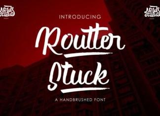Routter Stuck Font