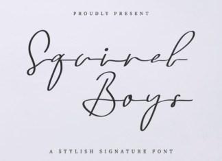 Squirel Boys Font