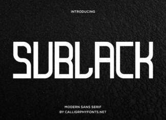 Sublack Font