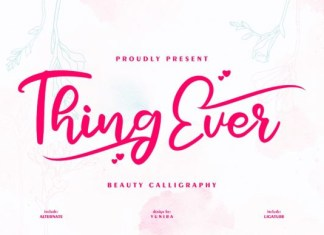 Thing eve Font