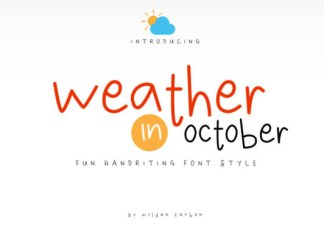 Weather in October Font