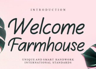 Welcome Farmhouse Font