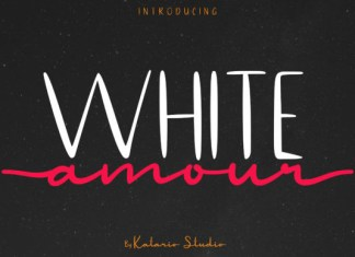 White Amour Font
