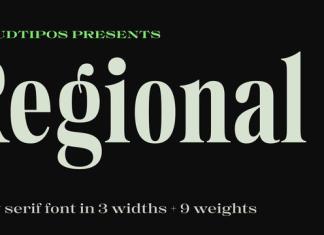 Regional Font