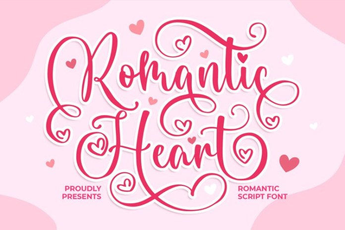 Romantic Heart Font