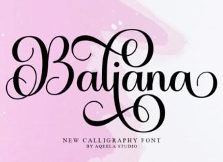 Baliana Font