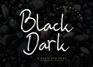 Black Dark Font
