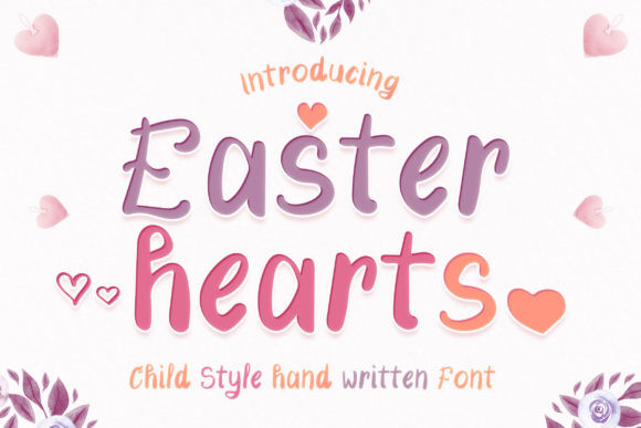 Easter Hearts Font