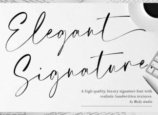 Elegant Signature Font