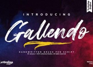 Gallendo Font