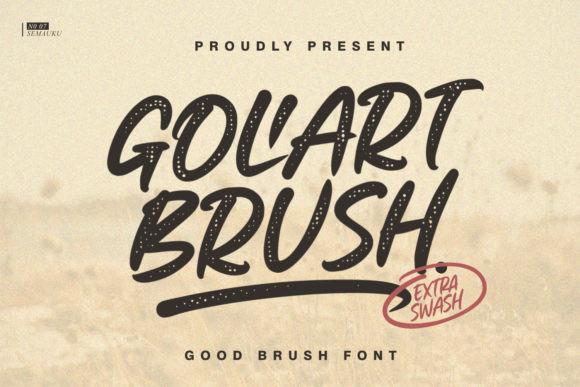 Goliart Brush Font