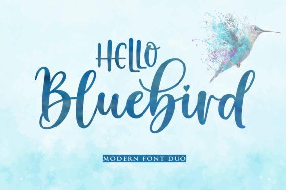 Hello Bluebird Font