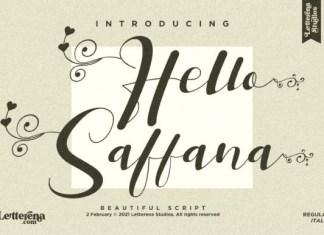 Hello Saffana Font