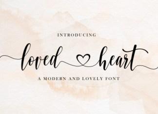 Loved Heart Font