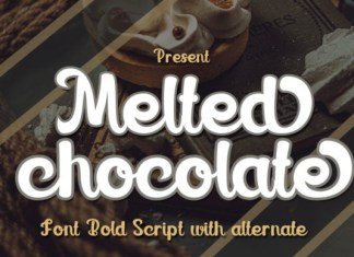 Melted Chocolate Font